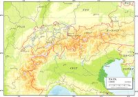 アルプス 地勢図