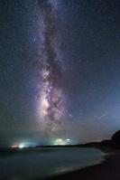 鹿児島県 天の川と中山海岸