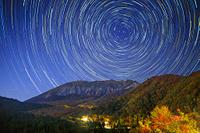 鳥取県 紅葉の大山と星空