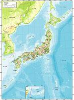 日本全図 地勢図