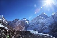 ネパール カラ・パタール頂上より クーンブ氷河