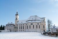 ドイツ 初冬のヴィース巡礼教会