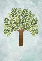 木と小鳥のイラスト