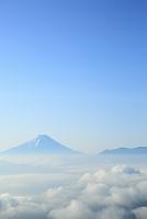 山梨県 朝の富士山と雲海