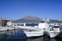 海潟漁港からの桜島