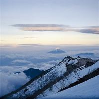山梨県 富士山 南アルプス観音岳から