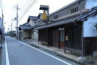 滋賀県 彦根市 中山道 鳥居本宿 合羽の看板