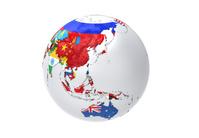 国旗の地球儀 アジア