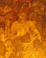 インド アジャンタ石窟群 第1窟 壁画 菩薩像