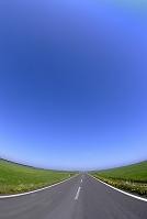 北海道 猿払村 直線道路