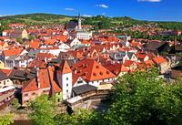 チェコ チェスキー・クルムロフの旧市街