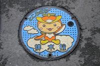 埼玉県 イラストの描かれた排水栓