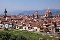 フィレンツェ ミケランジェロ広場からドゥオーモと歴史地区
