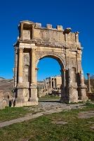 アルジェリア ジェミラ遺跡 カラカラ帝の凱旋門