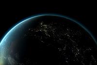地球 夜のヨーロッパ