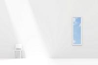 白い部屋に置かれた白い椅子と窓 CG