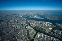 八潮 大井南周辺より大井コンテナターミナルと東京港方面