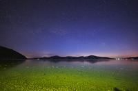 北海道 屈斜路湖と星