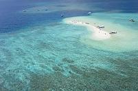沖縄県 西表島 バラス島 空撮