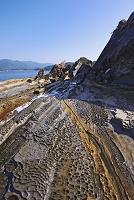 高知県 見残し海岸の奇岩群