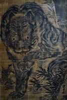 兵庫県 赤穂市 花岳寺 「竹に虎」の天井画(法橋周得の作)