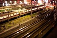東京都 ジオラマ風の鉄道夜景