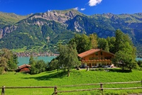 スイス ベルン州 ブリエンツ アルプス山脈 ブリエンツ湖