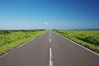 北海道 直線の道路