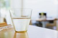 冷たい水が入ったグラス