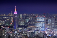 サンシャイン60展望室から東京の夜景