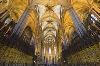 カテドラル 内部 バルセロナ スペイン
