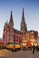 フランス ミュルーズ レユニオン広場のクリスマスマーケット