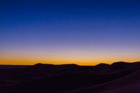 モロッコ サハラ砂漠の朝焼け