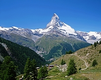 スイス ツェルマット周辺 マッターホルン