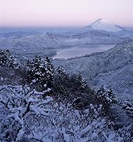 神奈川県 富士山 箱根 大観山から芦ノ湖