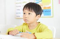 英会話を習う男の子