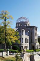 広島県 秋色の原爆ドーム