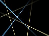 黒背景の交差する光線オブジェクト背景