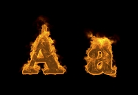 炎のアルファベットA