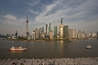 上海 外灘から浦東ビル群俯瞰