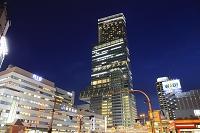 大阪府 夕暮れ時のあべのハルカス