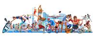 オリンピック施設とスポーツ横位置