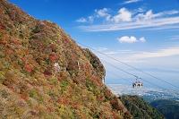 長崎県 紅葉の雲仙ロープウェイ 雲仙