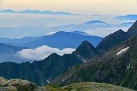 長野県 南岳から南アルプス遠望