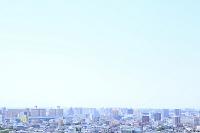 愛知県 名古屋市 街並みと青空