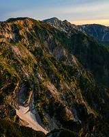 唐松岳頂上山荘から見る白馬三山