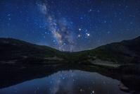 長野県 天の川と八方池