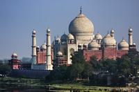 インド アーグラ アーグラ城塞からタージ・マハル
