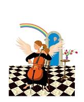 チェロを弾く天使