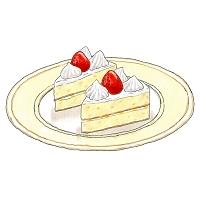 イラスト 苺ショートケーキ